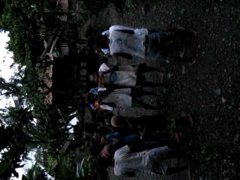 Panpipe band of Nduidui, Weathercoast, Guadalcanal, Solomons - Aug 2009