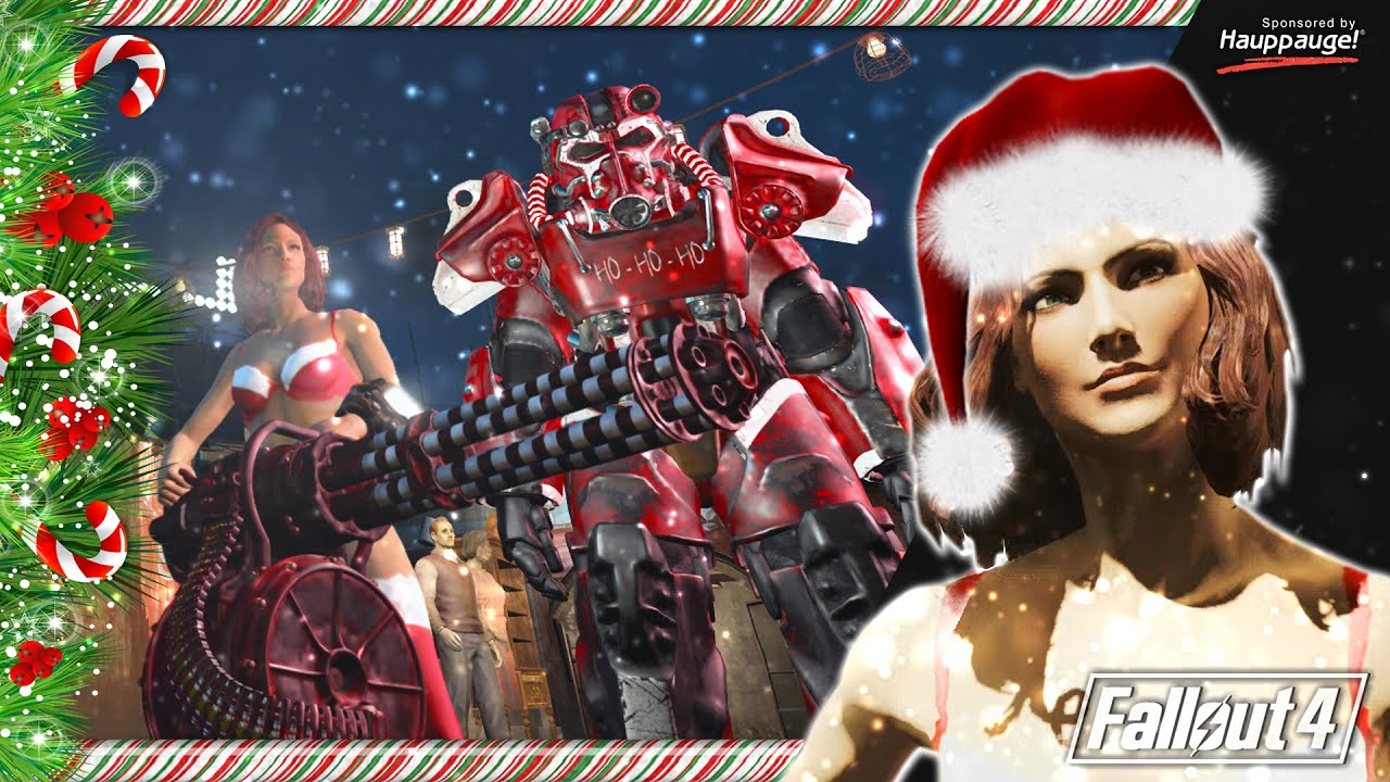 Fallout 4 Christmas Mod | Ho Ho Ho Power Armor + Weapon - YouTube