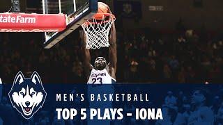 Top 5 Plays - Men's Basketball vs. Iona
