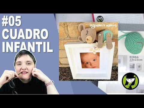 CUADRO INFANTIL AMIGURUMI 5 paso a paso