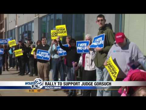 South Bend WSBT: Pro-life Activists Urge Sen. Donnelly to #ConfirmGorsuch
