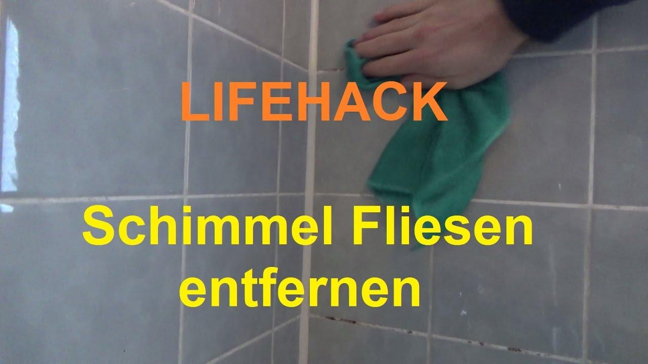 Badezimmer Fliesen Schimmel Beseitigen Bad Schimmel Fliesenfugen Entfernen Sauben Machen Reinigen Youtube