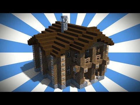 Красивый дом из бревна в Minecraft