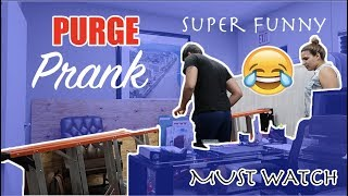 THE PURGE PRANK ON BOYFRIEND !! EXTREMELY FUNNY !