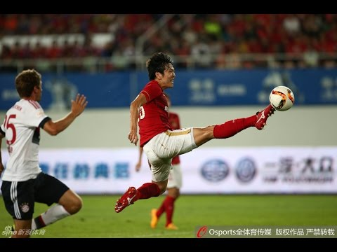 HIGHLIGHTS Guangzhou Evergrande 5:4 Bayern Munchen 郜林单刀曾诚神扑恒