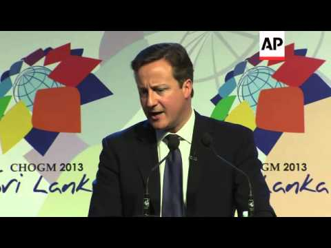 UK PM Cameron comments on dispute with Spain over Gibraltar