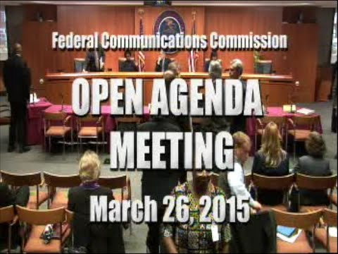 FCC Chairman and Commissioners salute Adonis Hoffman at March Open Meeting