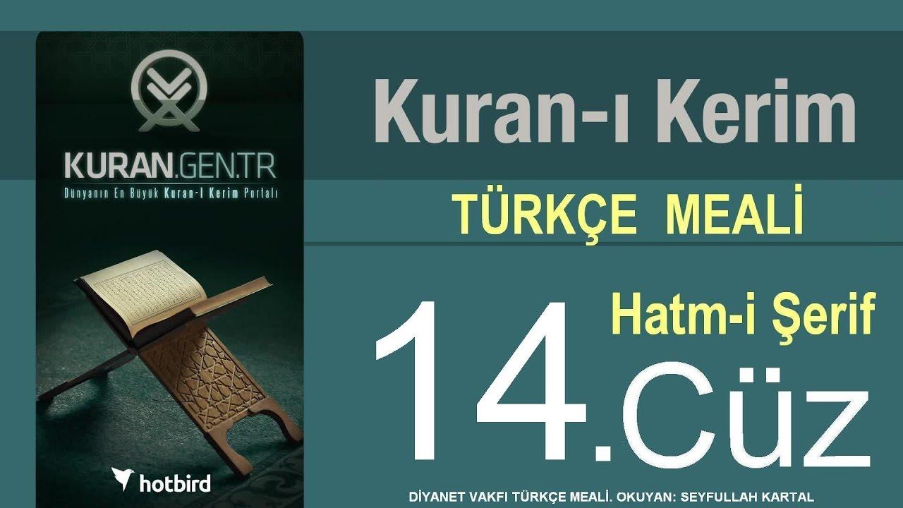 Türkçe Kurani Kerim Meali, 14 Cüz, Diyanet işleri vakfı meali, Hatim, Kuran.gen.tr
