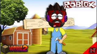 ROBLOX Indonesia #40 Lumber Tycoon2 (fr) Donc le bois dur Kuli vraiment 😆😂😝😭