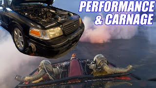 One Day Built TURBO Crown Vic Is Back! WILD Cleetus N Cars Burnouts!