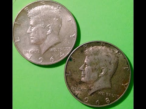 90% & 40% Silver Kennedy Half Dollars: 1964-1970