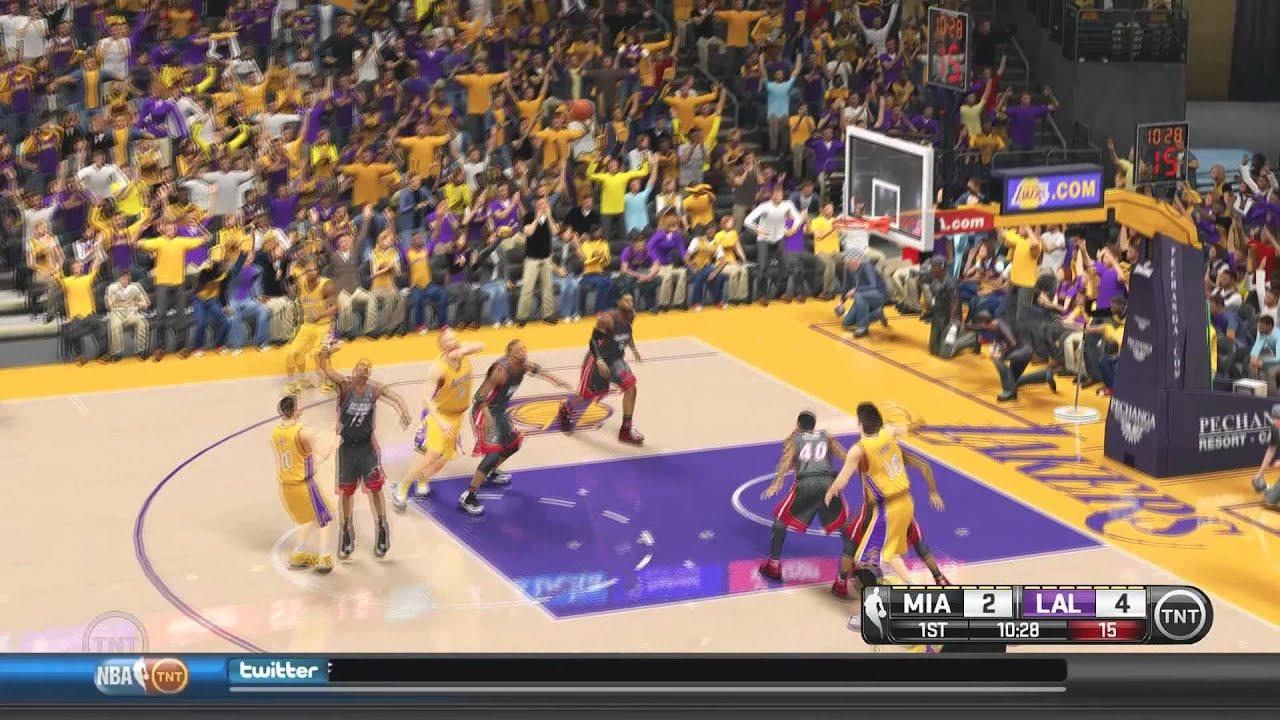 NBA 2K14 - TNT Mod, SweetFX & HD Court - YouTube