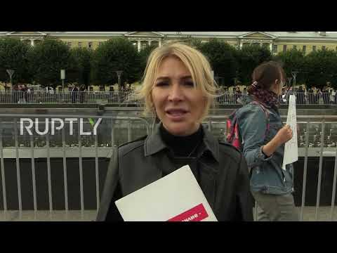 Russia: Rally in support of sisters accused of murdering father held in St.Petersburg
