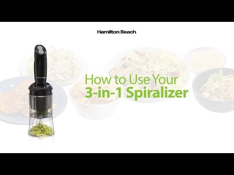Get Inspired to Spiralize with the Hamilton Beach 3-in-1 Spiralizer