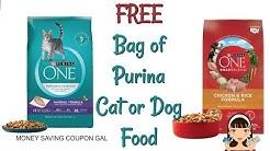 FREE BAG OF PURINA CAT 🐱OR DOG FOOD 🐶