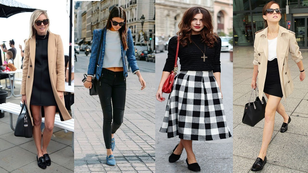 df96710957f Casual Outfit with Loafers Fall for Girls and Women Ideas - YouTube