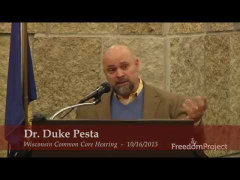 Dr. Duke Pesta Testifies Against Common Core in Fond du Lac, WI