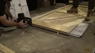 How to cut a bottom track guide into a barn door without a router.