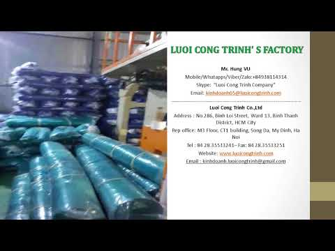 CONSTRUCTION SAFETY NET VIETNAM  FACTORY   - CONTACT : +84938114314