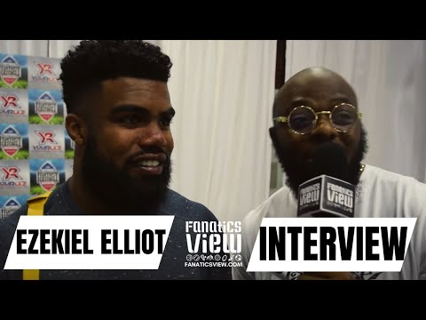 Ezekiel Elliott talks his summer off-season & Cowboys upcoming season (2017)