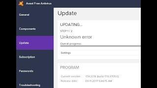 FIX Avast Free update errors