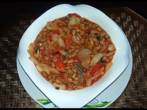 Saltfish And Bake Bean ( Jamaican Style )