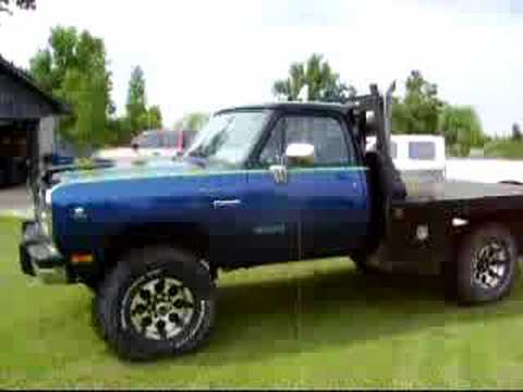 91 1991 Dodge Cummins Turbo Diesel 2500 4x4 Flatbed Youtube