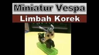 Cara Membuat Miniatur Motor Vespa Limbah Korek Gas - recycling art