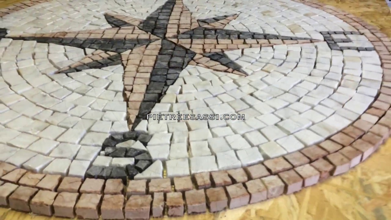 Pietreesassi mosaico in tessere di marmo rosa dei venti youtube - Mosaico per esterno ...
