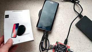 Беспроводная зарядка Qi для iPhone X/8/Самсунг S8-9 - WIWU QC100  (10 W!)