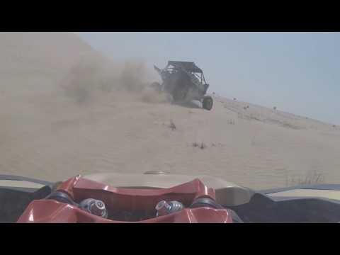 Can Am X3 & Yamaha YXZ1000R driving part of Seb's track in DIP, Dubai