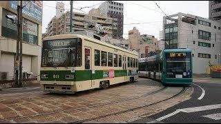 広島電鉄800形811号&5000形5005号『PASPYラッピング』小網町〜土橋