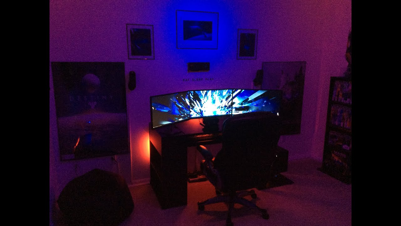 AWESOME 2014 PC Gaming Setup!!! (UPDATE) 3 Monitors, Nvidia Surround,  Dedicated Recording Area!   YouTube