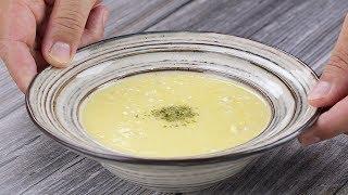 【1mintips】玉米濃湯很簡單,要好吃不容易!!用馬鈴薯取代勾芡,原汁原味更香濃!加上雞茸,海鮮湯都比不上的美味!!