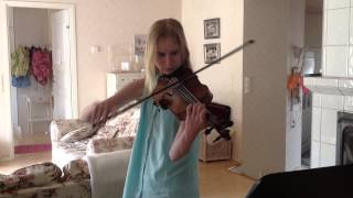 2014 Melissa playing violin on her 14th birthday, Sibelius 'Romanssi'