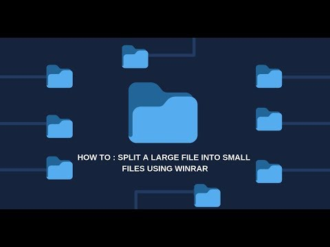 How To : Split a Large File Into Small Files Using WinRar