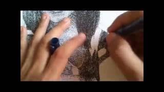 Pointillism Drawing - Time Lapse
