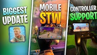 Fortnite Mobile News | Controller Support, STW Mobile, Bug Fixes, AND MORE!