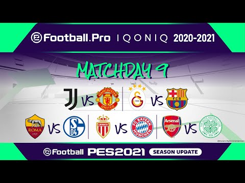 PES | eFootball.Pro IQONIQ 2020-21 | MATCHDAY 9 | Juventus vs Manchester United FC (Featured Match)