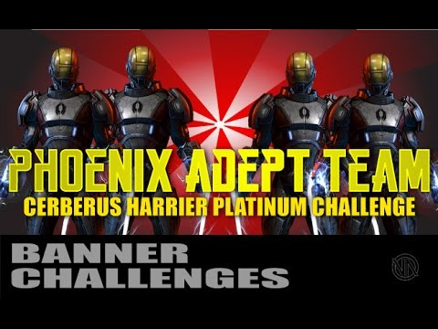 "THE REBELLION! Phoenix ""Harrier"" Adepts: Platinum Challenge: Mass Effect 3 Multiplayer"
