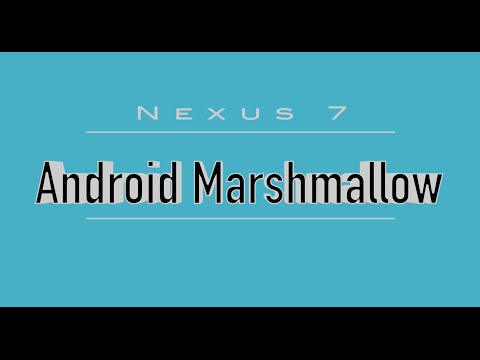 Nexus 7 (2012) with Android 6.0 Marshmallow