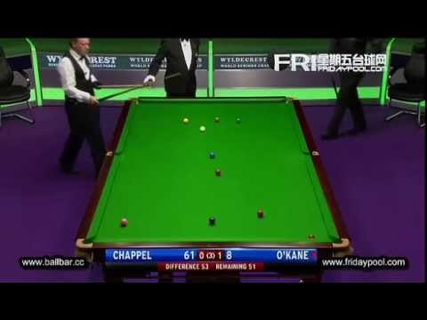 Dene O'Kane vs Tony Chappel - 2012 Senior World Championship-SF