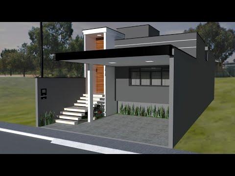 Igrejas fachadas arquitetura doovi for Casa moderna 7x20