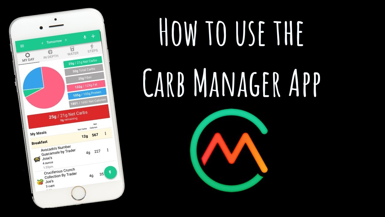 How to use The Carb Manager App