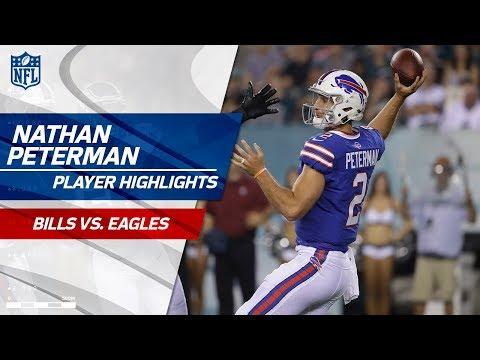 Nathan Peterman's Best Plays vs. Philadelphia | Bills vs. Eagles | Preseason Wk 2 Player Highlights