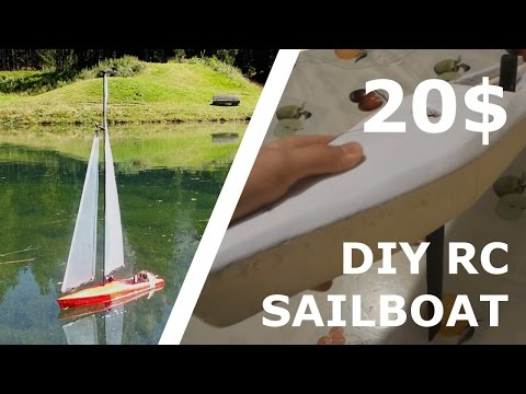 DIY RC SAILBOAT FOR 20$! [Part 3]
