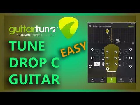 EASY DROP C TUNING - GUITAR TUNA | CGCFAD