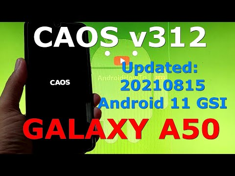 CAOS v312 on Samsung Galaxy A50 Android 11 GSI