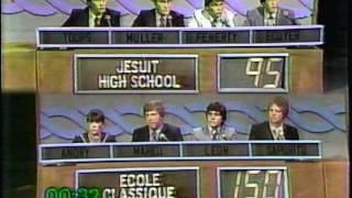 Varsity Quiz Bowl - 1980-1981 Ecole Classique vs Jesuit HS QTRFINAL