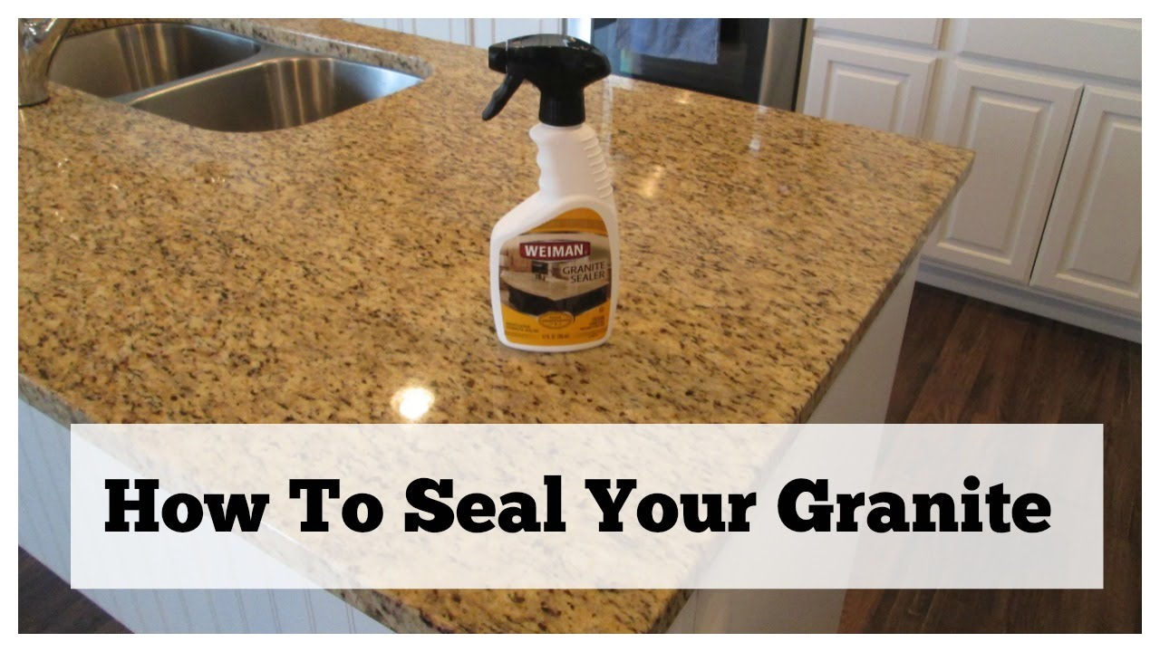 Captivating How To Seal Your Granite Countertop Care You